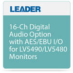 Leader 16-Ch Digital Audio Option with AES/EBU I/O for LV5490/LV5480 Monitors