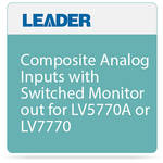 Leader Composite Analog Inputs with Switched Monitor out for LV5770A or LV7770