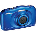 Nikon COOLPIX S33 Digital Camera (Blue, Refurbished)