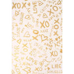 PepperLu PolyPaper Photo Backdrop (5 x 7', Love Languages Pattern, Gold)