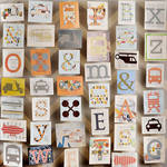 PepperLu PolyPaper Photo Backdrop (5 x 5', Trucks & Letters Pattern)