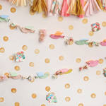 PepperLu PolyPaper Photo Backdrop (5 x 5', Birds and Streamers Pattern)