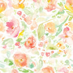 PepperLu PolyPaper Photo Backdrop (5 x 5', Blended Flowers Pattern)