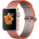 Apple Watch Series 2 42mm Smartwatch (Rose Gold Aluminum Case, Sport Orange/Anthracite Woven Nylon Band)