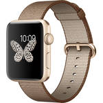 Apple Watch Series 2 42mm Smartwatch (Gold Aluminum Case, Toasted Coffee/Caramel Woven Nylon Band)