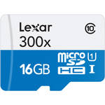Lexar 16GB High Performance 300x microSDHC UHS-I Memory Card