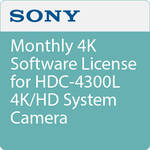 Sony Monthly 4K Software License for HDC-4300L 4K/HD System Camera