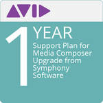 Avid Technologies 1-Year Support Plan for Media Composer Upgrade from Symphony Software