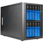 "iStarUSA 10-Bay 3.5"" SATA 6.0 Gb/s eSATA-Port Multiplier Trayless JBOD Enclosure with 250W Power Supply (Blue HDD Handles)"