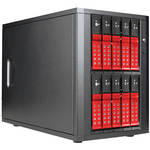 "iStarUSA 10-Bay 3.5"" SATA 6.0 Gb/s eSATA-Port Multiplier Trayless JBOD Enclosure with 250W Power Supply (Red HDD Handles)"