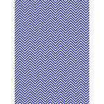 Westcott Classic Chevron Matte Vinyl Backdrop with Grommets (5 x 7', Rich Blue)