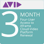 Panasonic Four-User Access to Aframe Cloud-Video Platform (90-Day Renewal)