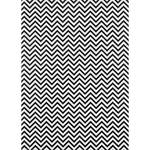 Westcott Narrow Chevron Art Canvas Backdrop with Grommets (5 x 7', Black)