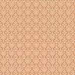 Westcott Classic Damask Art Canvas Backdrop with Hook-and-Loop Attachment (3.5 x 3.5', Orange)