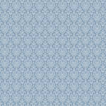 Westcott Classic Damask Matte Vinyl Backdrop with Hook-and-Loop Attachment (3.5 x 3.5', Blue)