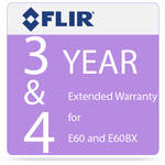 FLIR 3 and 4 Year Extended Warranty for E60 and E60bx Camera