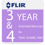 FLIR 3 and 4-Year Extended Warranty for T640 and T640bx IR Cameras