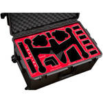 Jason Cases Protective Case for DJI Inspire Quadcopter (Red Overlay)