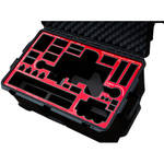 Jason Cases Protective Pelican Case for Freefly MoVI M10 Gimbal Stabilizer (Red Overlay)