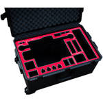 Jason Cases Protective Pelican Case for Freefly MoVI M15 Gimbal Stabilizer with Toad-in-the-Hole (Red Overlay)