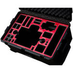 Jason Cases Pelican Case with Laser-Cut Foam for MoVI M5 & Accessories (Red Overlay)