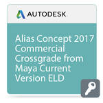 Autodesk Alias Concept 2017 Commercial Crossgrade from Maya Current Version ELD