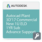 Autodesk AutoCAD Plant 3D 2017 with Advanced Support (1-Year Subscription, Download)