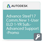 Autodesk Advance Steel 2017 Commercial New Single-user ELD Annual Subscription - Advanced Support - PROMO