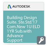 Autodesk Building Design Suite Standard 2017 Commercial New Single-user ELD Annual Subscription - Advanced Support