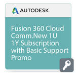 Autodesk Fusion 360 CLOUD Commercial New Single-user Annual Subscription with Basic Support - PROMO