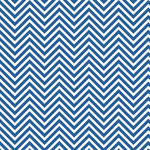 Westcott Classic Chevron Art Canvas Backdrop with Hook-and-Loop Attachment (3.5 x 3.5', Bold Blue)