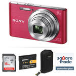 Sony DSC-W830 Digital Camera Deluxe Kit (Pink)
