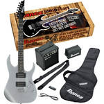 Ibanez IJRG220Z Jumpstart Package with Guitar, Amplifier, Strap, Gig Bag & More (Silver)