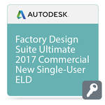 Autodesk Factory Design Suite Ultimate 2017 Commercial New Single-user ELD