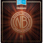 D'Addario NB1253 Light Nickel Bronze Acoustic Guitar Strings (6-String Set, 12-53)