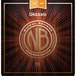 D'Addario NB1256 Light Top/Medium Bottom Nickel Bronze Acoustic Guitar Strings (6-String Set, 12-56)