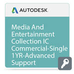 Autodesk Media and Entertainment Collection IC Commercial New Single-user ELD Annual Subscription - Advanced Support