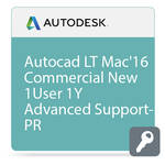 Autodesk AutoCAD LT for Mac 2016 Commercial New Single-user ELD Annual Subscription with Advanced Support PROMO - Renew