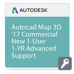 Autodesk AutoCAD Map 3D 2017 with Advanced Support (1-Year Subscription, Download)