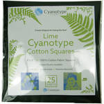 "Cyanotype Store Cyanotype Cotton Squares - 8 x 8"" (10 Pack, Lime)"