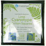 "Cyanotype Store Cyanotype Cotton Squares - 8 x 8"" (100 Pack, Lime)"
