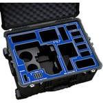 Jason Cases Hard Rolling Case for Sony FS7 Camera (Blue Overlay)