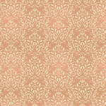 Westcott Leafy Damask Matte Vinyl Backdrop with Hook-and-Loop Attachment (3.5 x 3.5', Orange)