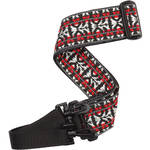 Planet Waves Hootenanny Woven Banjo Strap (Red and Silver)