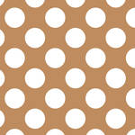 Westcott Large Dots Matte Vinyl Backdrop with Hook-and-Loop Attachment (3.5 x 3.5', Brown)