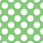 Westcott Large Dots Matte Vinyl Backdrop with Hook-and-Loop Attachment (3.5 x 3.5', Green)