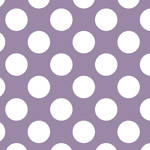 Westcott Large Dots Matte Vinyl Backdrop with Hook-and-Loop Attachment (3.5 x 3.5', Purple)