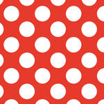 Westcott Large Dots Matte Vinyl Backdrop with Hook-and-Loop Attachment (3.5 x 3.5', Red)