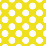 Westcott Large Dots Matte Vinyl Backdrop with Hook-and-Loop Attachment (3.5 x 3.5', Yellow)