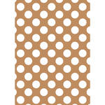 Westcott Large Dots Art Canvas Backdrop with Grommets (5 x 7', Brown)